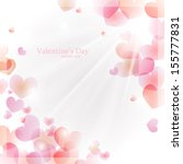 vector background for valentine'... | Shutterstock .eps vector #155777831