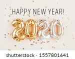 new year 2020 celebration. gold ... | Shutterstock . vector #1557801641