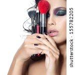 portrait of attractive ... | Shutterstock . vector #155782205
