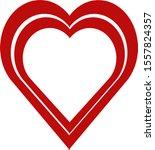 a beautiful heart  illustrator... | Shutterstock . vector #1557824357