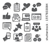 survey icons set on white... | Shutterstock . vector #1557833084