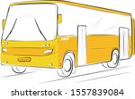 Yellow Bus With Rear Luggage...
