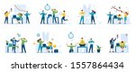 set young business characters ... | Shutterstock .eps vector #1557864434
