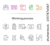working process icons. set of...