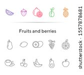 fruits and berries icons. set...   Shutterstock .eps vector #1557878681