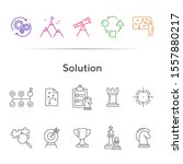 solution icon set. line icons... | Shutterstock .eps vector #1557880217