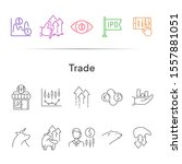 trade line icon set. growth ... | Shutterstock .eps vector #1557881051
