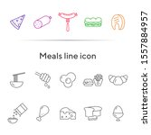 meals line icon. set of line... | Shutterstock .eps vector #1557884957