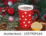 Christmas Hot Coffee With Lemo...
