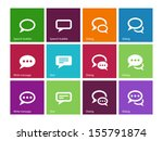 speech bubble icons on color... | Shutterstock . vector #155791874