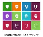 shield icons on color...