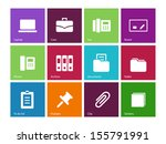 office icons on color...