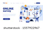 online survey vector landing...