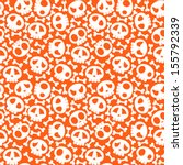 vector seamless skull pattern... | Shutterstock .eps vector #155792339