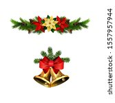 christmas decorations with fir...   Shutterstock .eps vector #1557957944