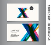 business card template  letter x | Shutterstock .eps vector #155798081