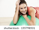 young woman relaxing on a... | Shutterstock . vector #155798531