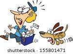 cartoon postman running away...