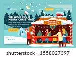 web banner christmas holiday...   Shutterstock .eps vector #1558027397