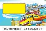 cartoon scene with cityscape... | Shutterstock . vector #1558033574