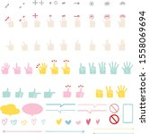 hand sign  touch  colorful... | Shutterstock .eps vector #1558069694