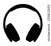 headphones icon | Shutterstock .eps vector #155812055
