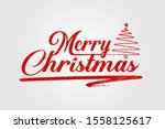 merry christmas scribble... | Shutterstock .eps vector #1558125617