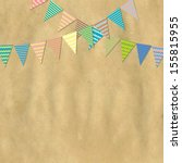 vintage paper and bunting flags ... | Shutterstock .eps vector #155815955