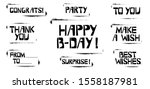 set of birthday celebration... | Shutterstock .eps vector #1558187981