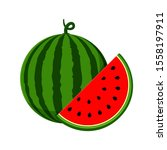 watermelon vector. watermelon... | Shutterstock .eps vector #1558197911