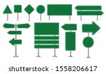 set of green road signs... | Shutterstock .eps vector #1558206617