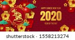 happy chinese new year 2020... | Shutterstock .eps vector #1558213274