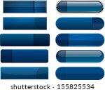 set of blank dark blue buttons... | Shutterstock .eps vector #155825534