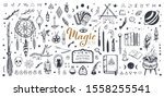 witchcraft  magic background... | Shutterstock .eps vector #1558255541