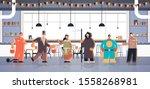 people wearing different...   Shutterstock .eps vector #1558268981