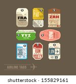 collection of vintage airline... | Shutterstock .eps vector #155829161