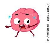 brain running scared fleeing... | Shutterstock .eps vector #1558318574