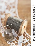 real old reels spools with... | Shutterstock . vector #155833589