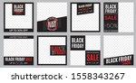 black friday sale banner set.... | Shutterstock .eps vector #1558343267