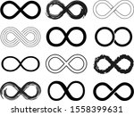 infinite icon set that is... | Shutterstock .eps vector #1558399631