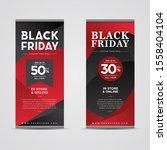 black friday banner template... | Shutterstock .eps vector #1558404104