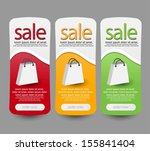 web sale banner set | Shutterstock .eps vector #155841404