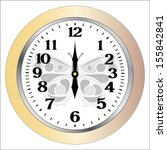 wall clocks isolation on white... | Shutterstock . vector #155842841