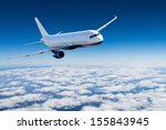 airplane in the sky   passenger ... | Shutterstock . vector #155843945