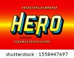 comics style super hero font ... | Shutterstock .eps vector #1558447697