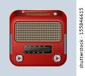 retro radio receiver. raster... | Shutterstock . vector #155846615