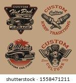 set of vector black and white... | Shutterstock .eps vector #1558471211