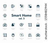 smart home icon set volume 3... | Shutterstock .eps vector #1558482944