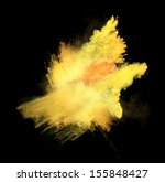 yellow powder isolated on black ... | Shutterstock . vector #155848427