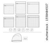 mesh laundry bag vector ... | Shutterstock .eps vector #1558484537